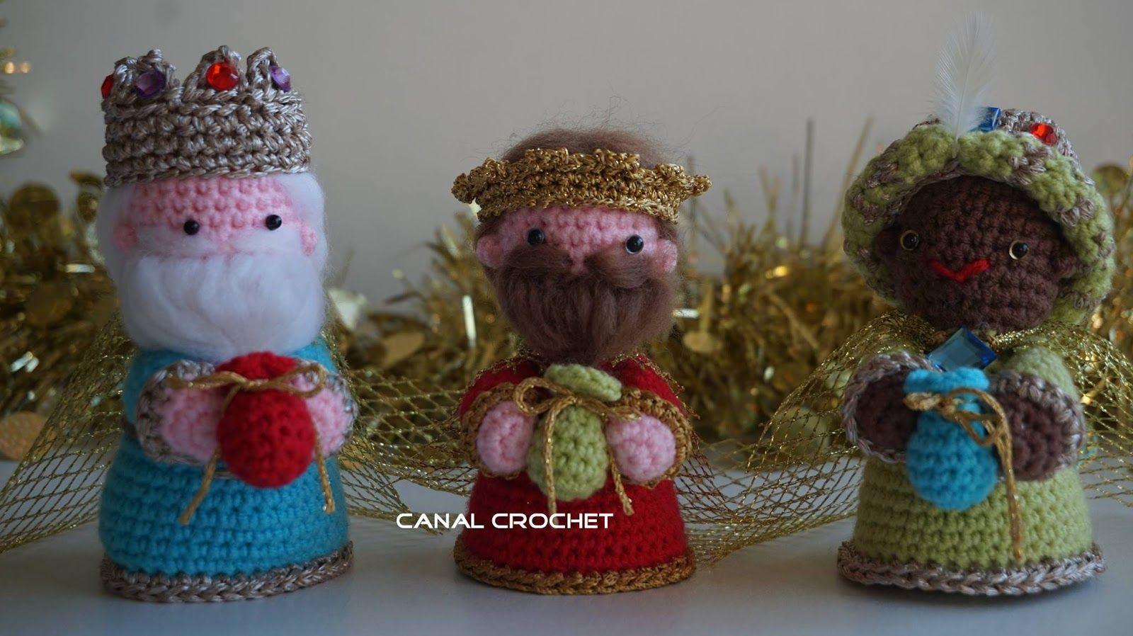 CANAL CROCHET: Reyes Magos amigurumi patrón libre. | Tutoriales de ...
