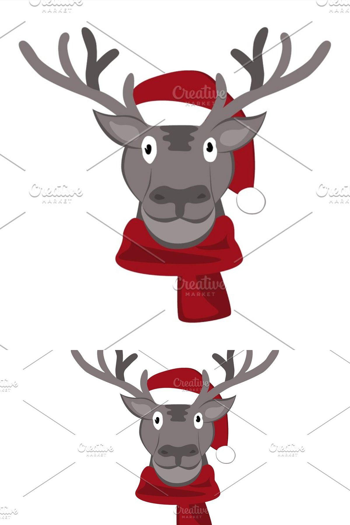Christmas Deer In Santa Claus Hat Christmas Deer Santa Claus Hat Santa Claus
