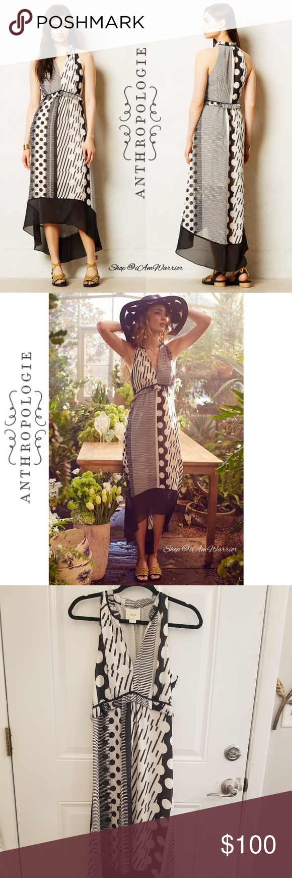 be3c236ce040e Anthropologie Black Cream Maeve & Stripes/Dot Maxi Anthropologie Maeve black  & cream stripes/dot maxi dress Casual Maxi Dresses Anthropologie Dresses  Maxi