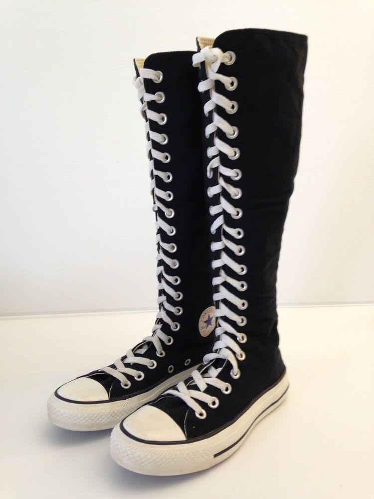 d145f6d0ecf3 CONVERSE CHUCK TAYLOR ALL STAR Women s X-HI Tall Top Sneaker Boots Size 5  USA  ChuckTaylor  KneeBoots