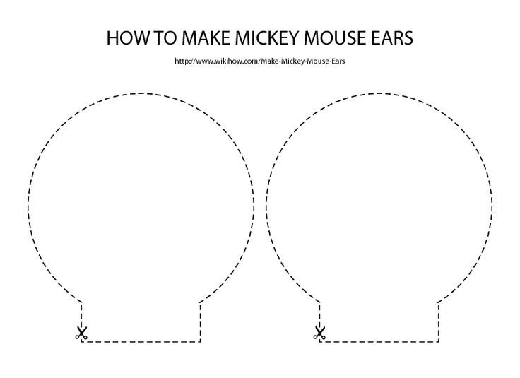 Ear template i used to make minnie mouse plates add bow for Minnie mouse ear template