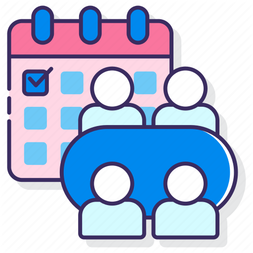 Business Management Meeting Scheduled Icon Download On Iconfinder Icon Summer Icon Management