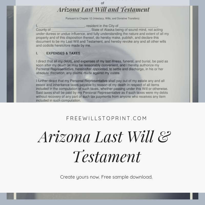 Last Will And Testament Freewillstoprint Com Will And Testament Last Will And Testament Form