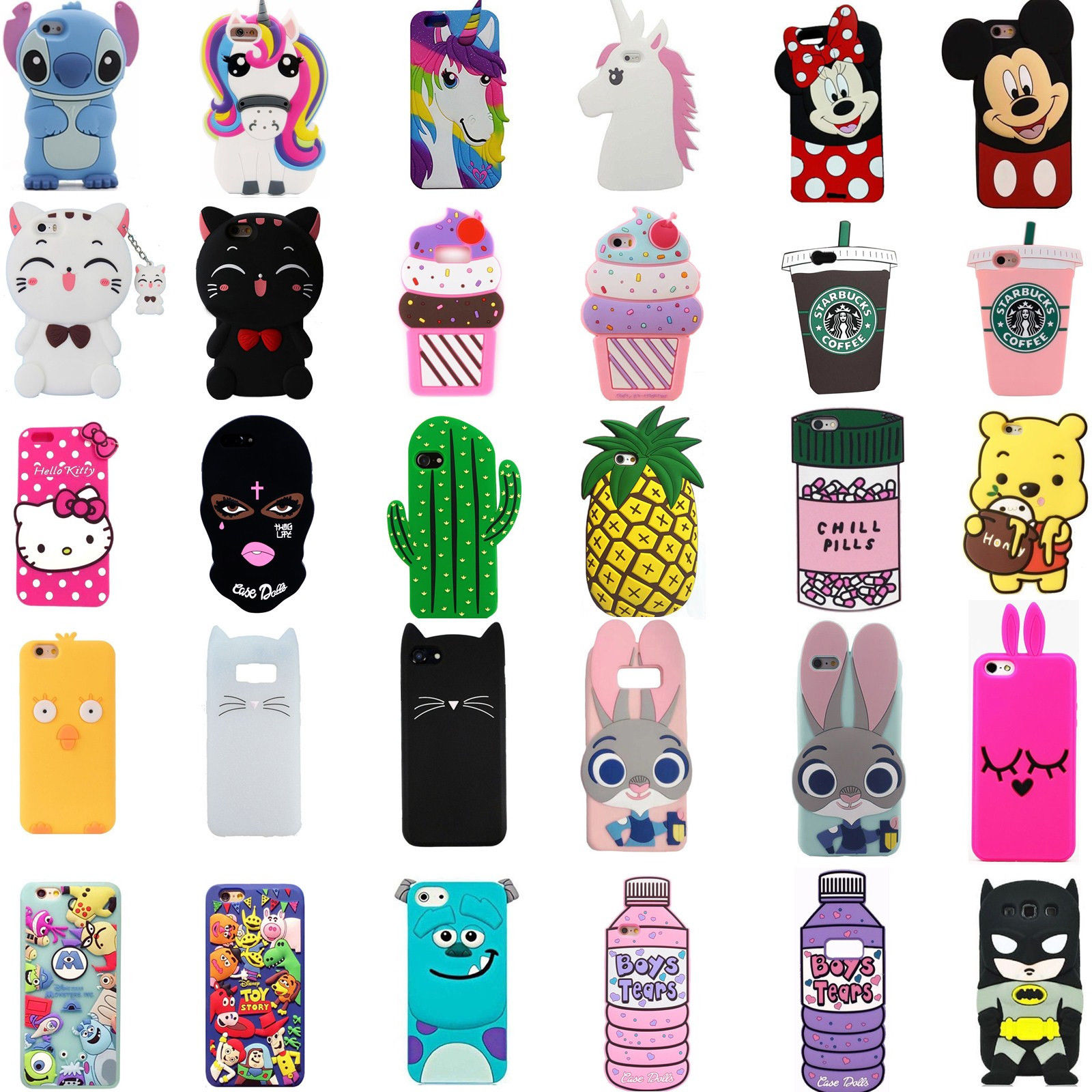 huge selection of d4290 1da30 3D Cute Cartoon Silicone Phone Case Cover Back Skin For Iphone 6/7/8 ...