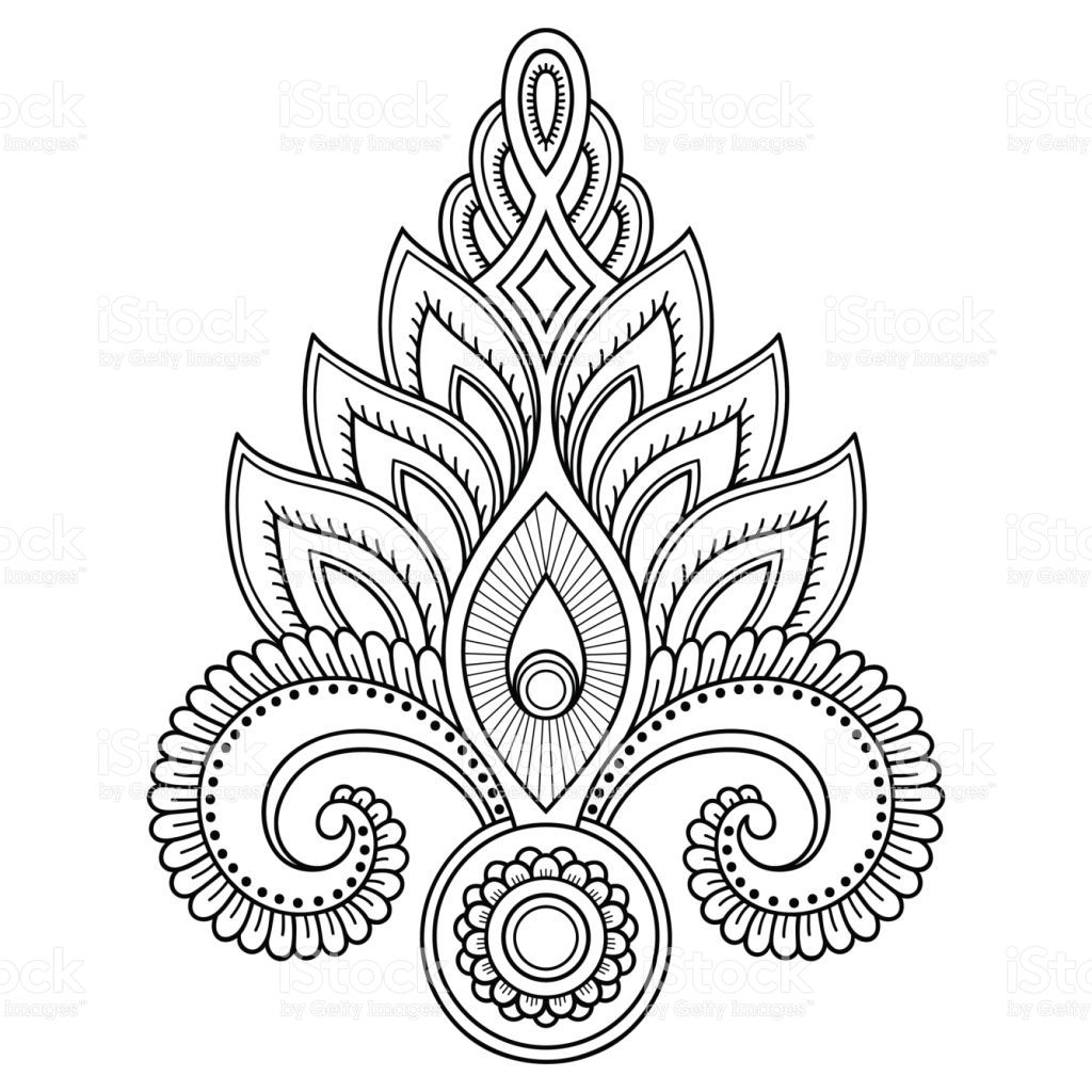 henna tattoo flower template in indian style ethnic floral paisley hennas tattoo and. Black Bedroom Furniture Sets. Home Design Ideas