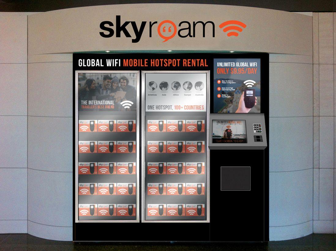 Going abroad skyroam rental vending machines launch in