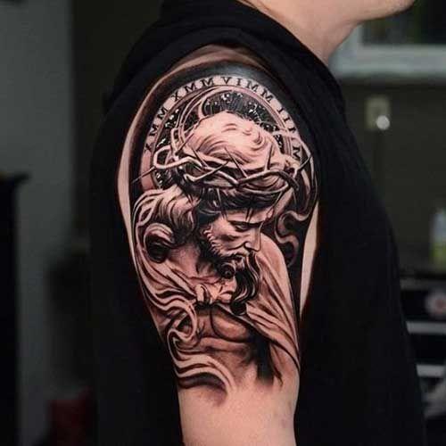 Tatuagem De Jesus Cristo No Ombro