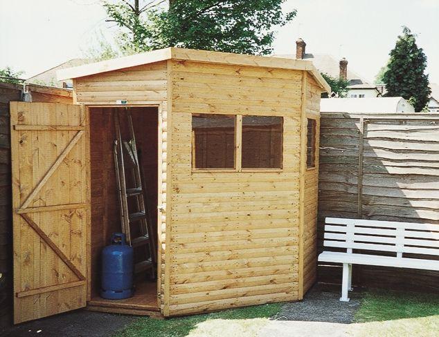 corner shed - Corner Garden Sheds 7x7