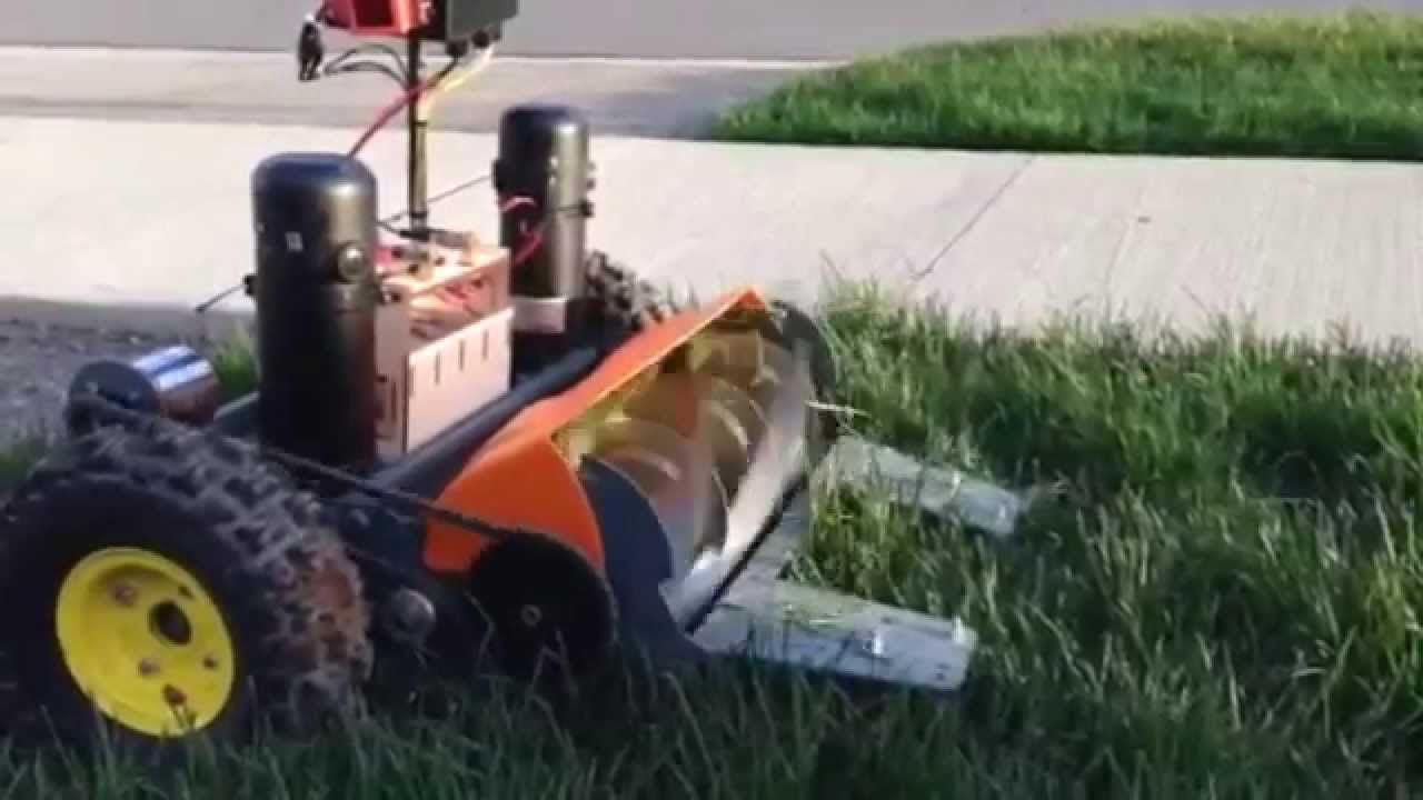 Converted Rc Lawn Mower Mower Rc Tractors Lawn Mower