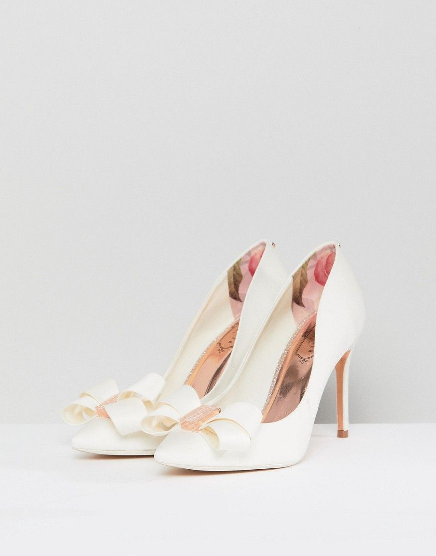 1a4c2322d21275 Ted Baker Tie The Knot Skalett Heeled Shoes - White