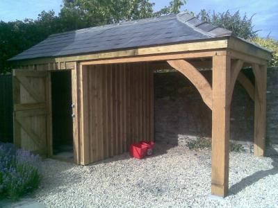 Oak Frame Car Port With Soft Wood Store Room We Offer A