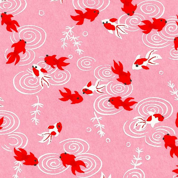 papier japonais s rigraphie poisson carpe rouge sur fond rose imprimer pinterest fond. Black Bedroom Furniture Sets. Home Design Ideas