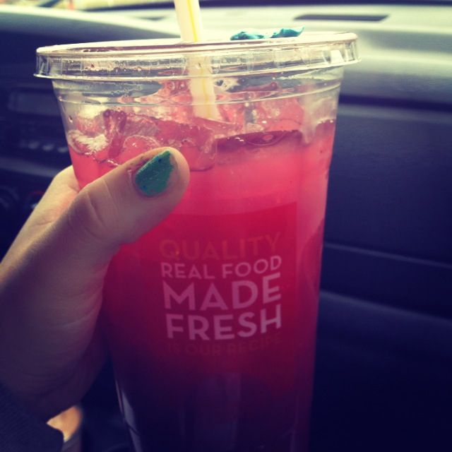 The ONE thing I've craved throughout this pregnancy! LOVE THIS DRINK!! Strawberry Lemonade from Wendy's! :)
