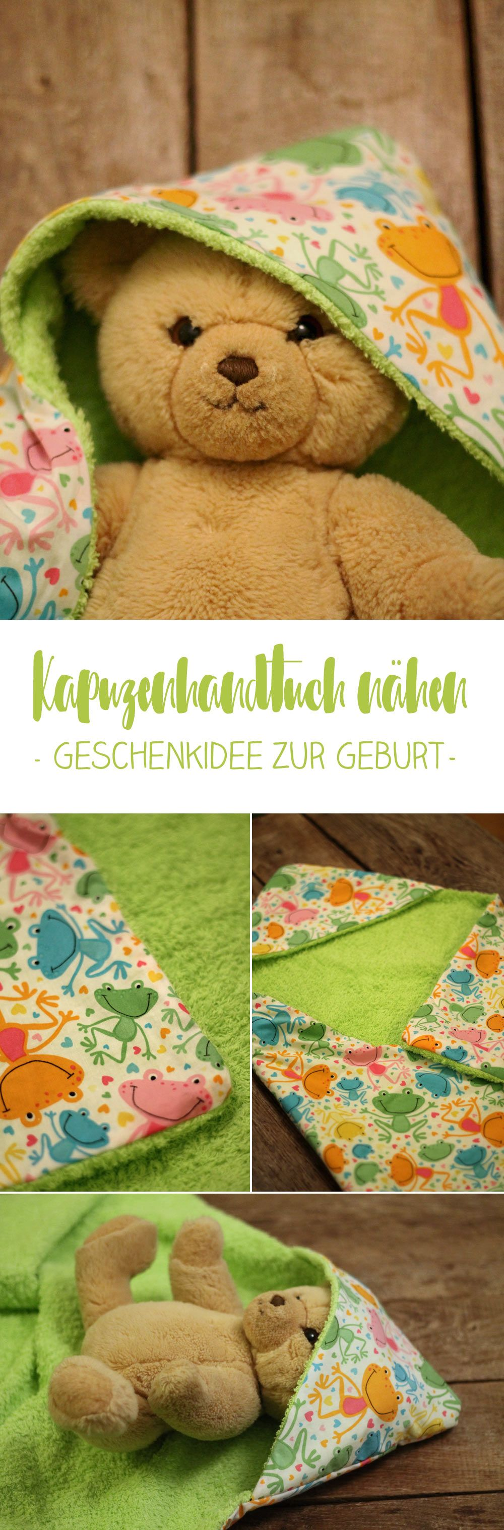 diy baby kapuzenhandtuch selbermachen n hideen the one about sewing projects pinterest. Black Bedroom Furniture Sets. Home Design Ideas