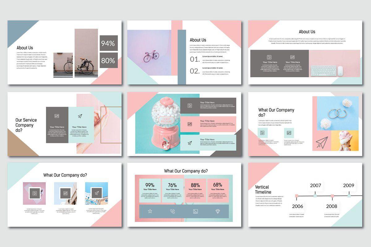 Madein Pastel Keynote Powerpoint Design Templates Powerpoint Presentation Design Keynote Design