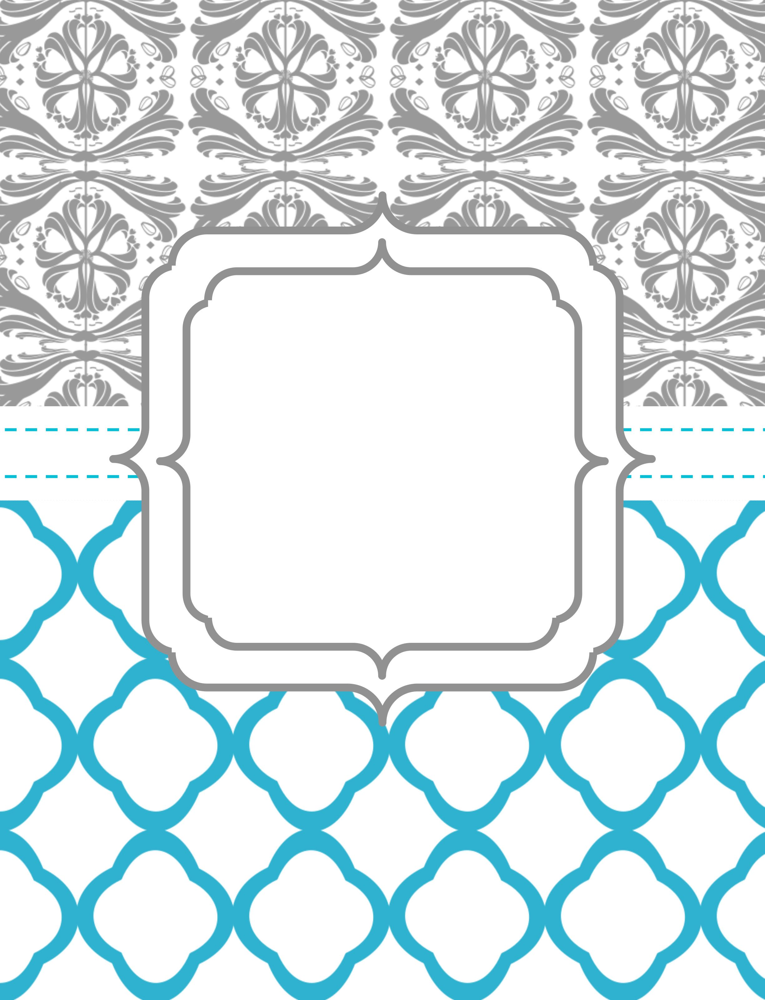 Notebook Cover Template ~ Binder cover printables pinterest