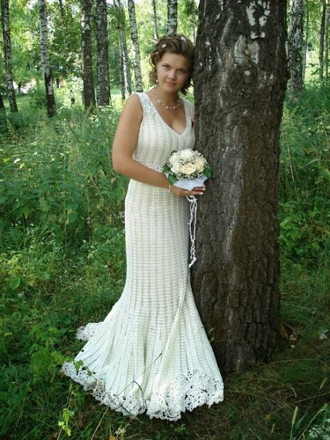 Crochet wedding dresses | Crochet wedding dress | Pinterest | Boda ...