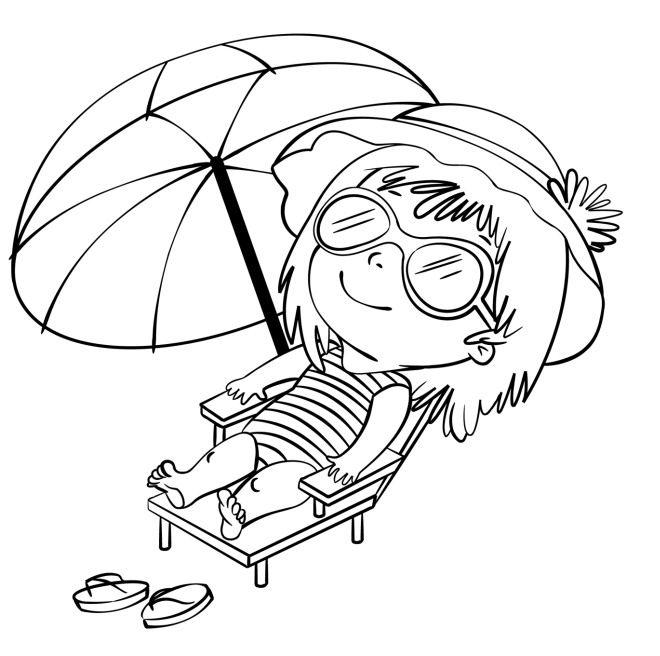 disegno per bambini da colorare gratis vacanze mare