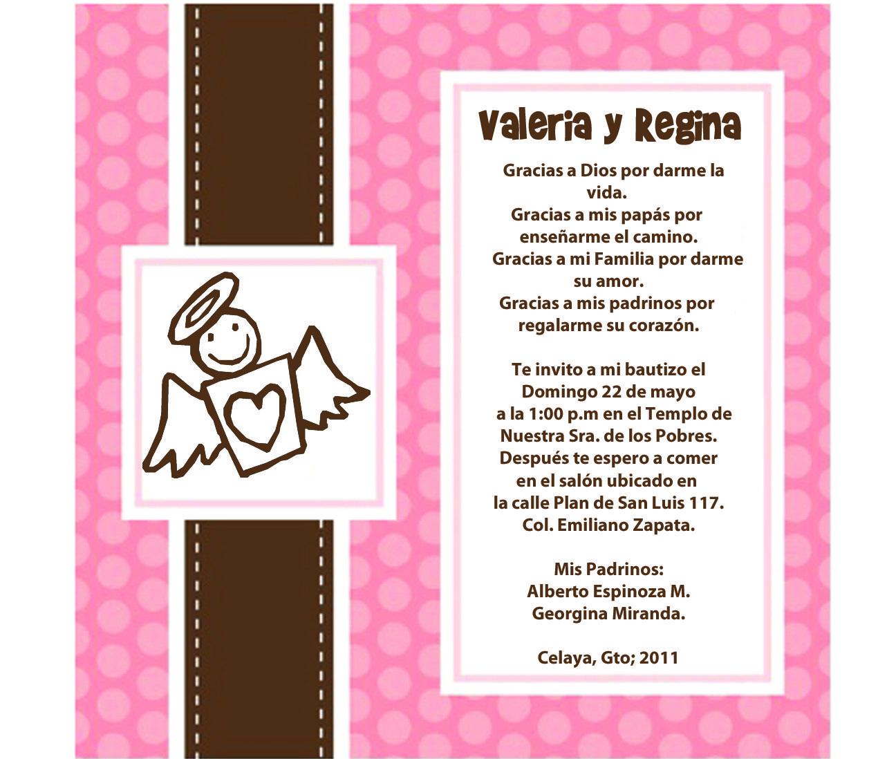 Frases Para Invitaciones De Bautizo | dOtime | bautismo ...