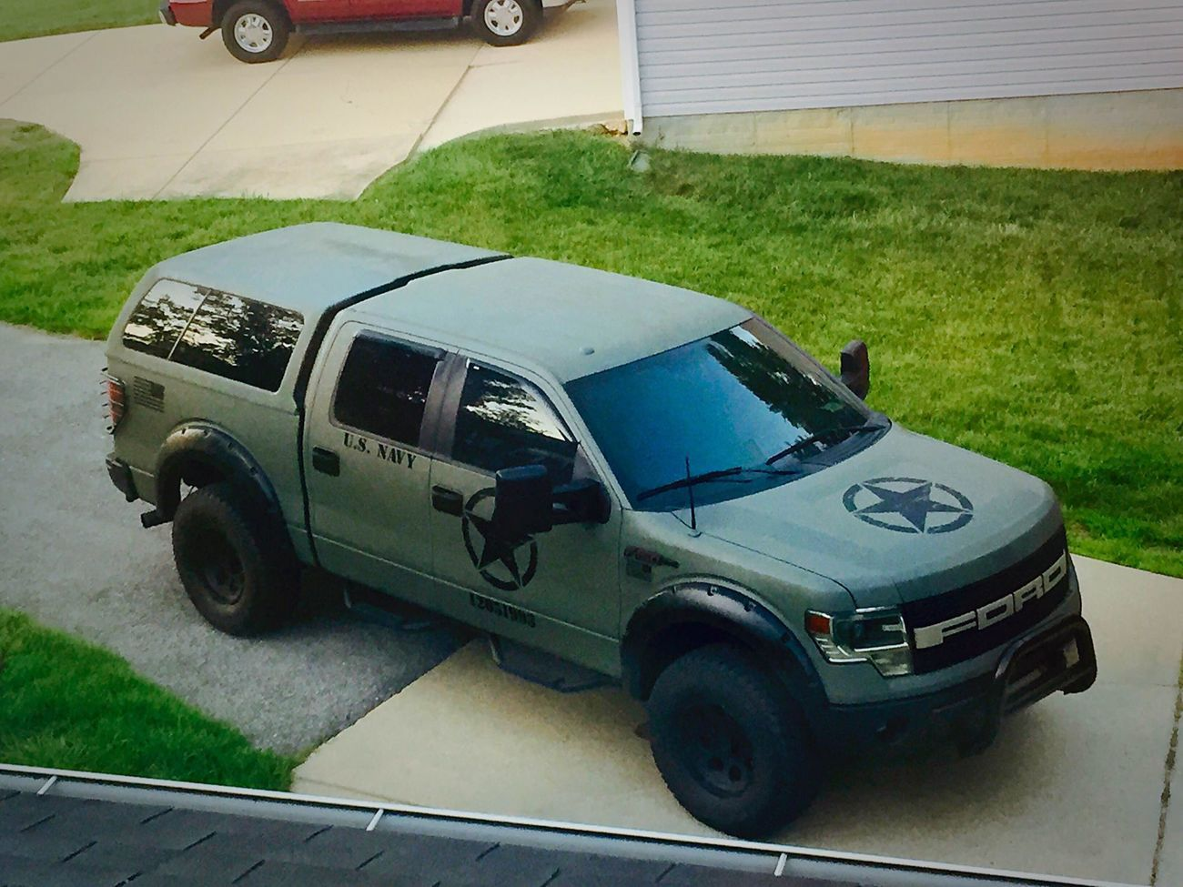 My Military Themed 2014 F 150 Screw Before And After Ford F150 Trailer Electrical Forum Community Of Truck Fans