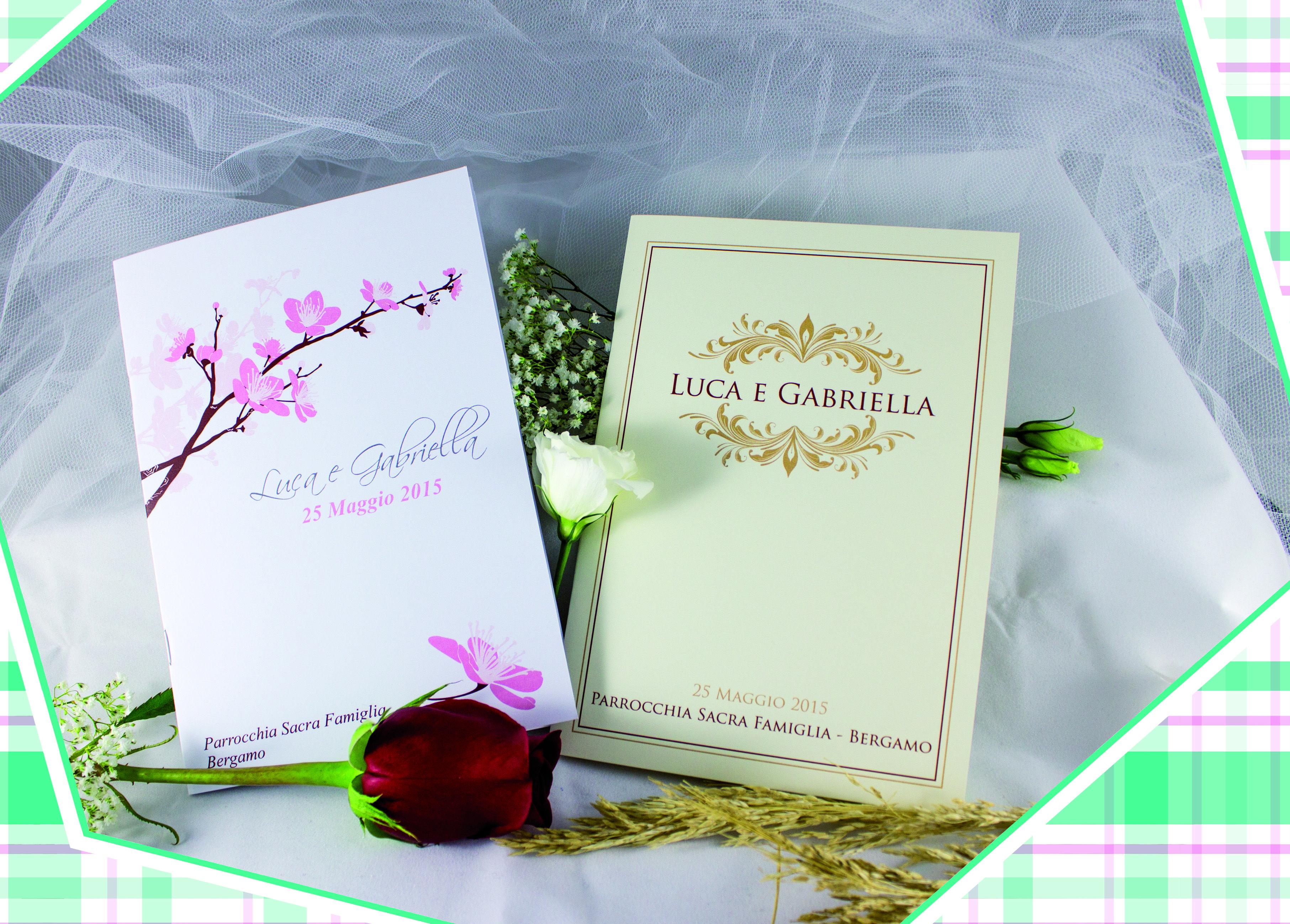 Libretti Matrimonio Rito Romano : Libretti messa per gli sposi che celebrano la cerimonia in