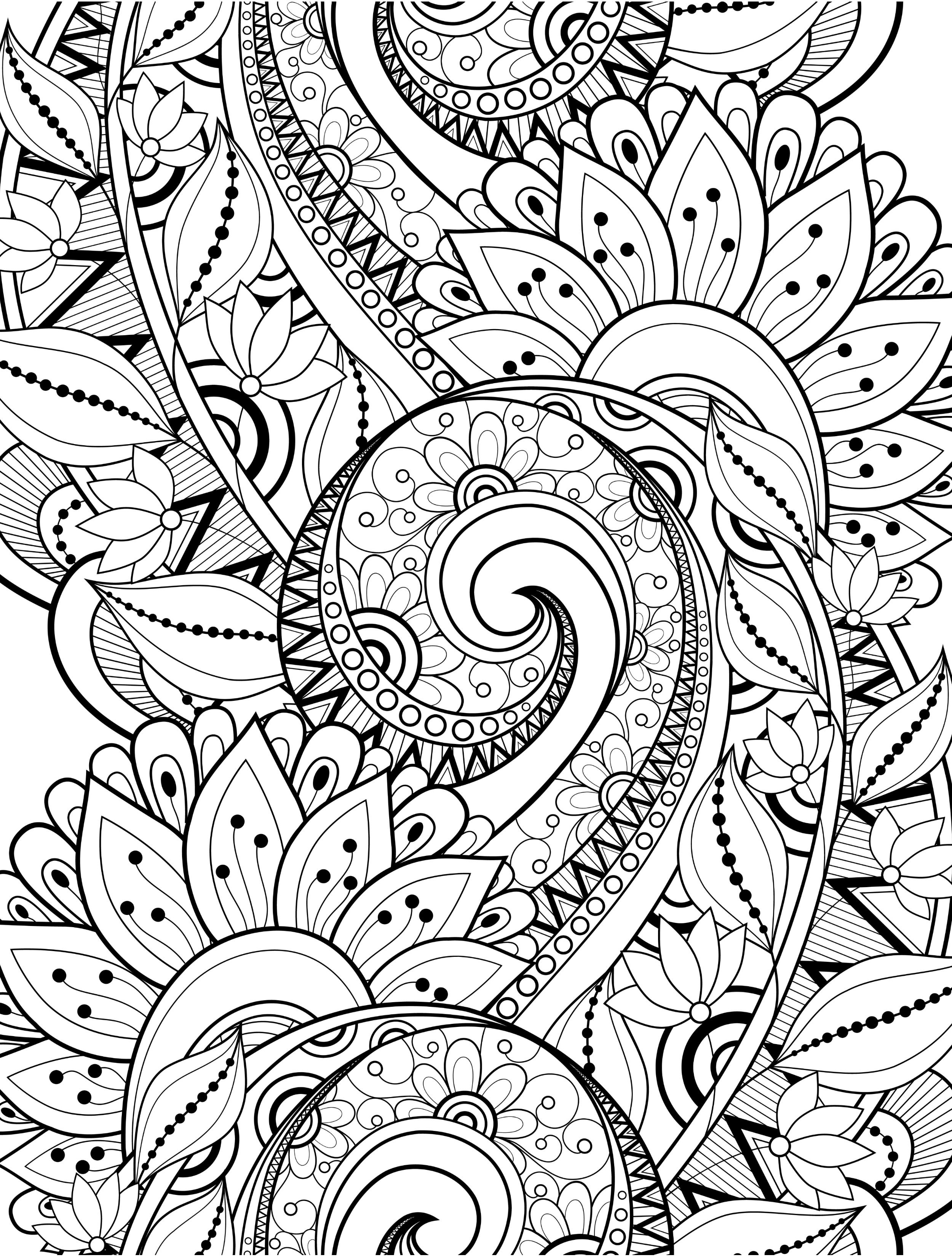 15 CRAZY Busy Coloring Pages for Adults | sketching | Pinterest ...