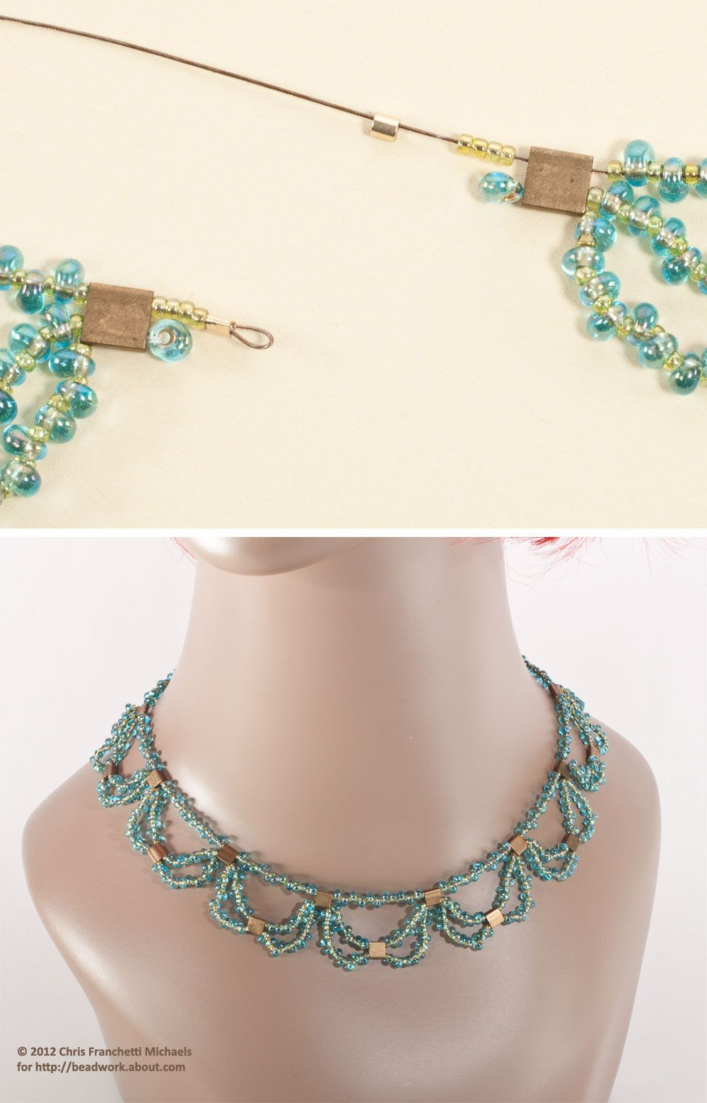 Tila Bead Necklace Pattern - Layered Beaded Lace