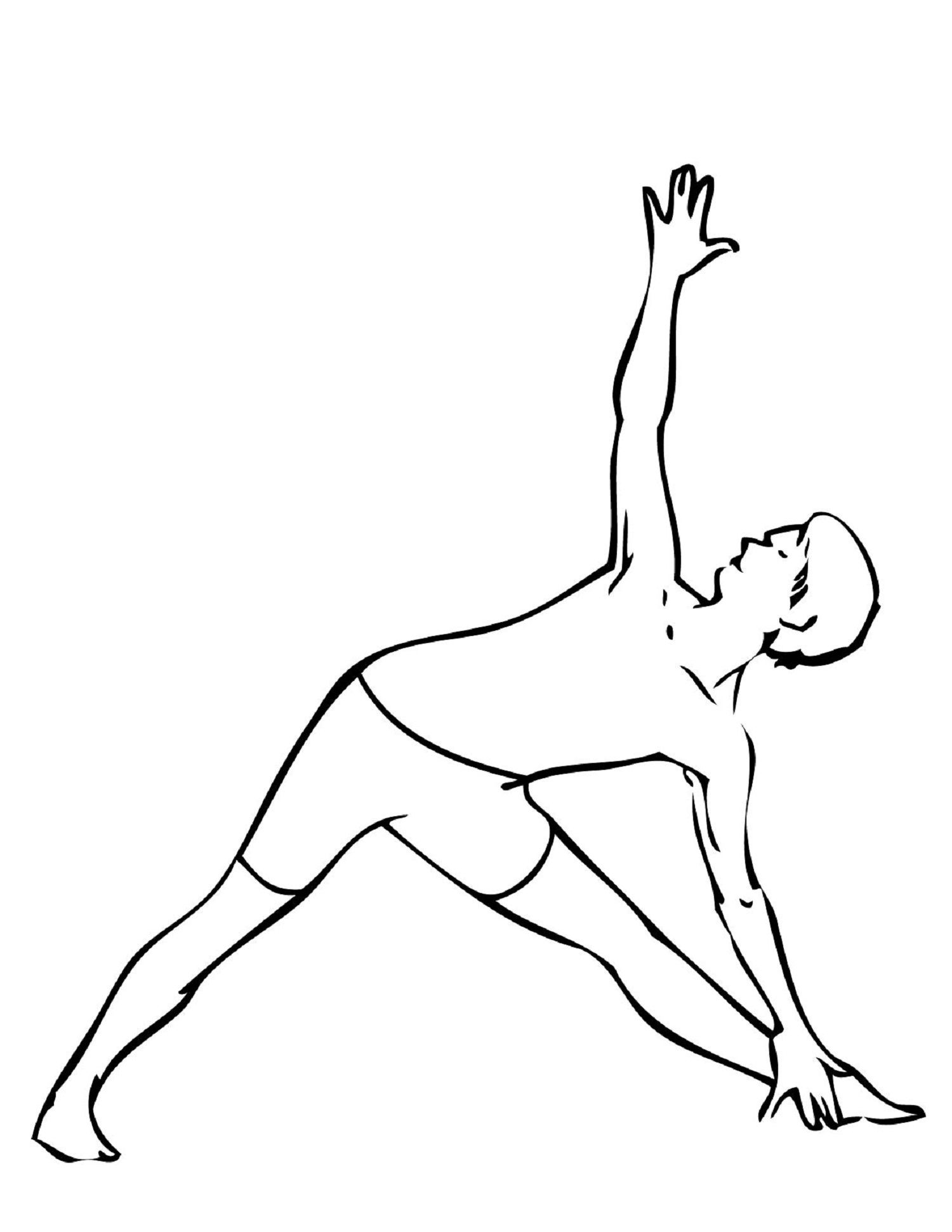 Yoga Coloring Pages For Kid Sport