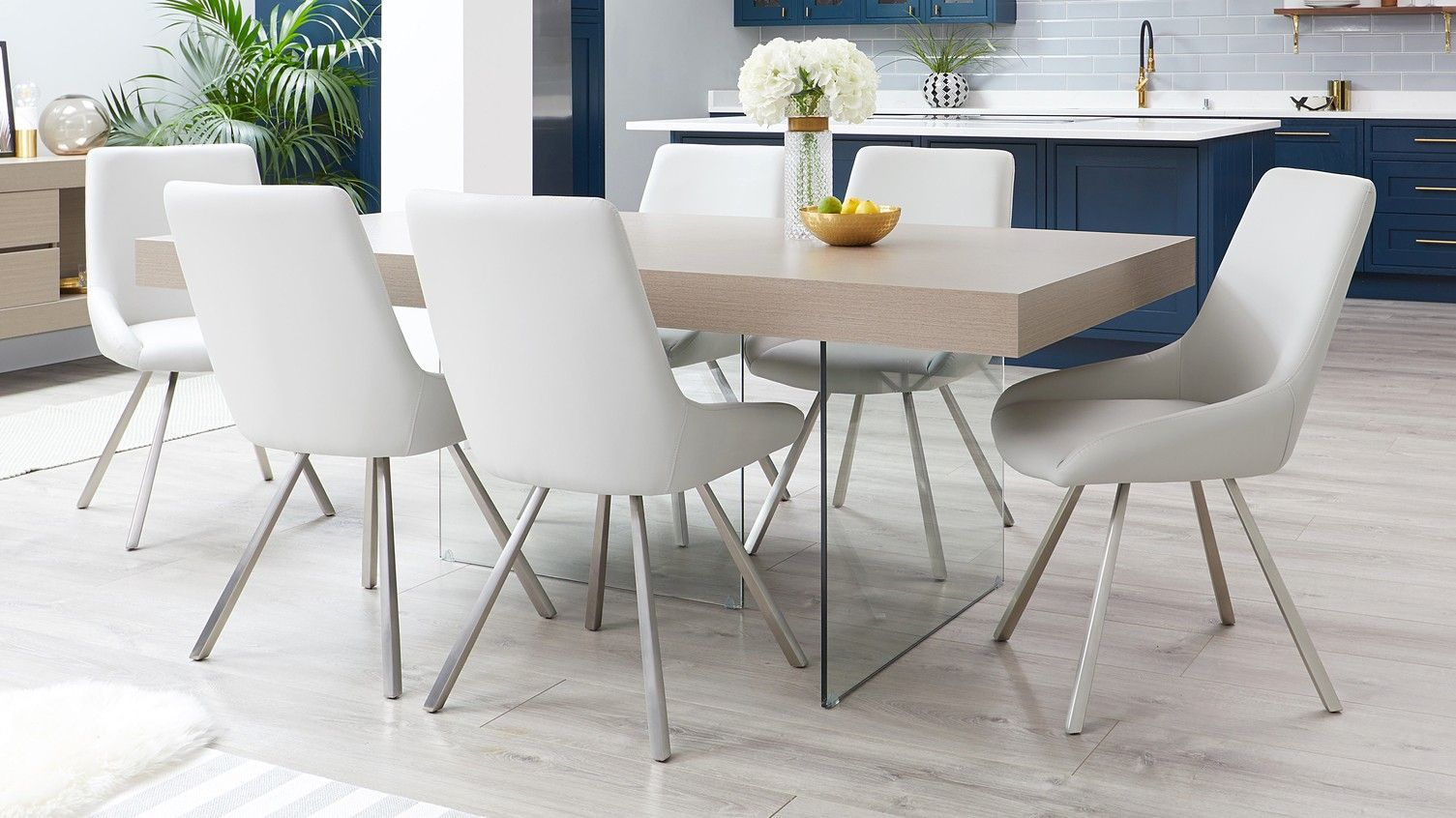 best service 94cb3 46fe1 Aria Grey Oak and Glass and Theo Dining Set | Danetti | Aria ...