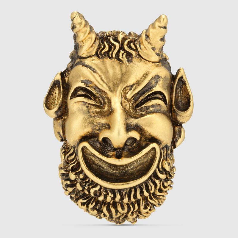 fcb8993dcf Silenus mask ring   Clothes I Want   Gucci jewelry, Fashion jewelry ...