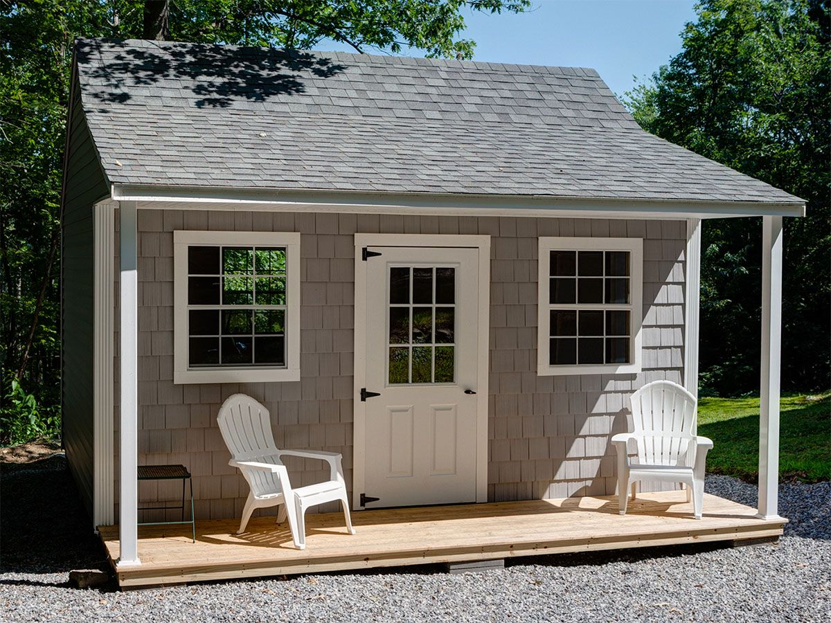 Hampton Gallery Post Woodworking Sheds Shed With Porch Backyard Sheds Shed Design