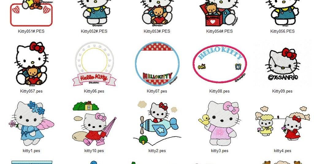 Hello Kitty Embroidery Designs Machine Embroidery Patterns