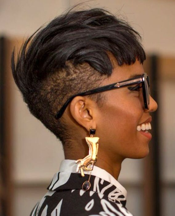 Undercut Black Hair Natural Pixie Short Hair Styles African American Hair Styles Short Hair Styles