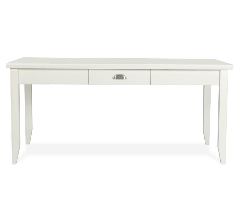 Tribeca Loft Writing Desk Linen White Constructed Of Hardwood Solids And Engineered Wood