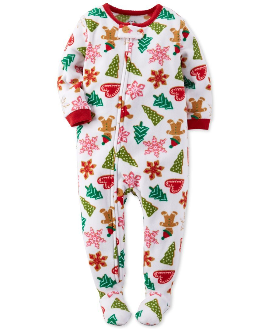 a0ff37af1 Carter s Baby Girls  One-Piece Cookie Pajamas