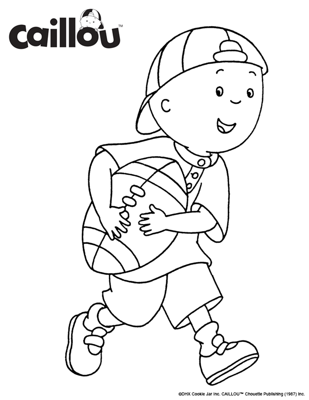Print Color Caillou Let S Play Coloring Sheet Cartoon Coloring Pages Coloring Pages Sailor Moon Coloring Pages