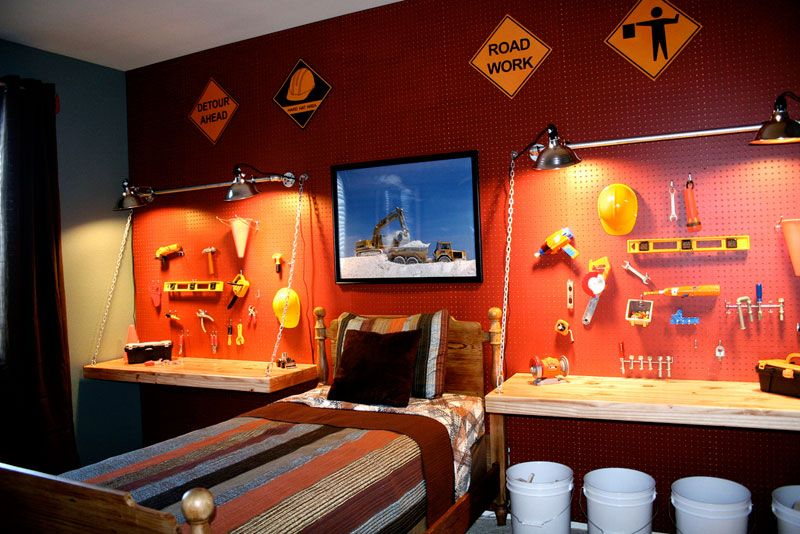 Boys construction bedroom decorating ideas inhabit for Room interior design for boys