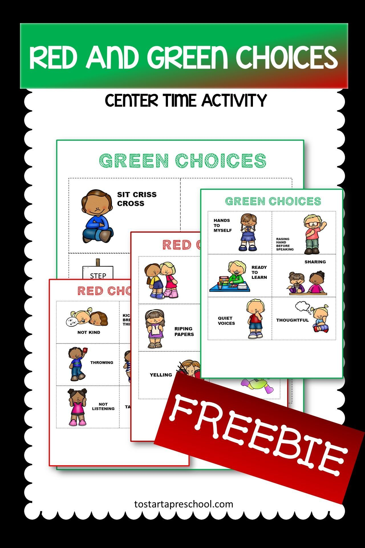 Freebie Red And Green Choice Cards In With Images