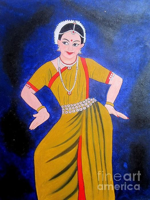 Indian dancer...Acrylic painting