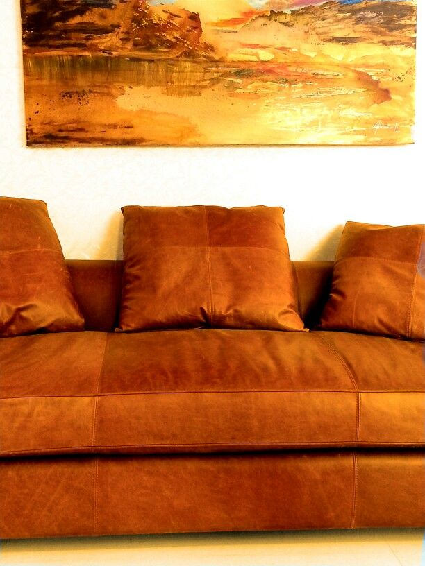 Spaces Gallery - Beirut Offers A Real Leather Amazing Couch