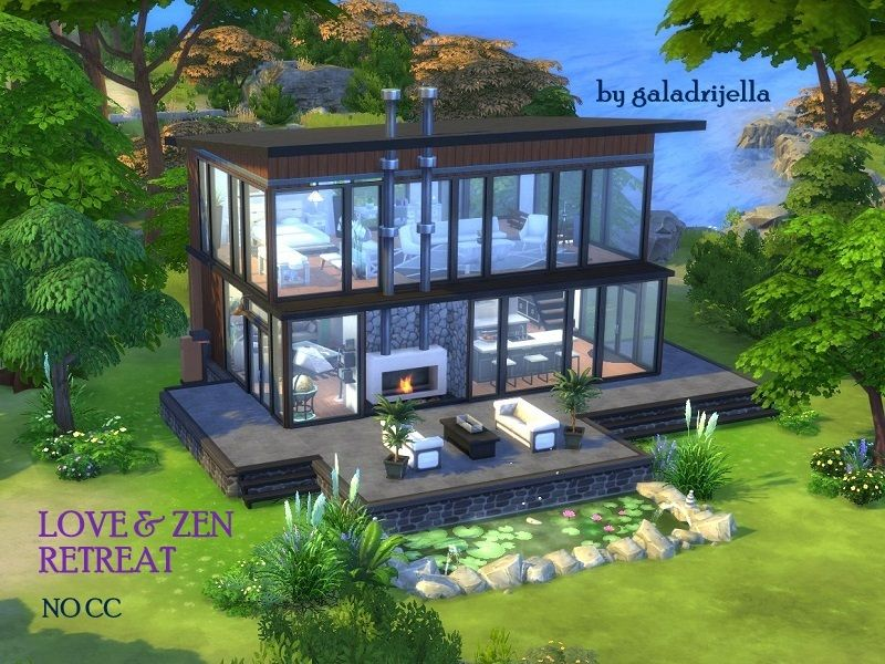 Dreaming Of Private Place For Your Private Moments If Romantic Getaway In A Modern Glass House Is What Your H Sims House Sims 4 Modern House Sims House Design