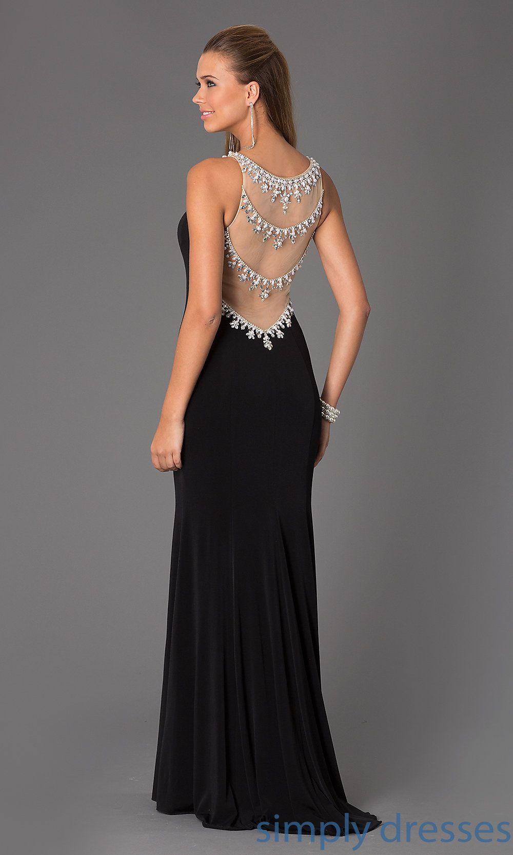 Jojvnjvn black long formal jersey formal gown prom dress