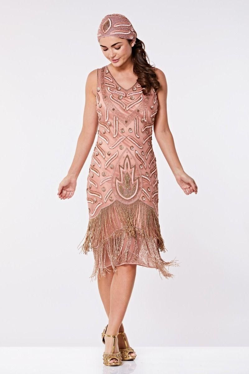 d4649824822 Old Hollywood Fringe Dress in Rose in 2019