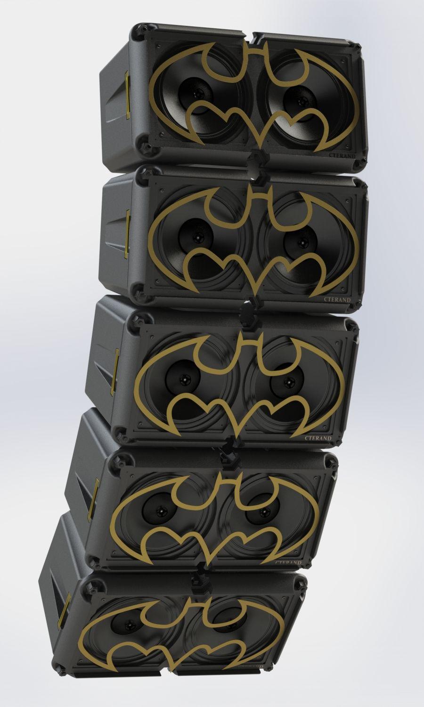 CarbonFiber 3DPrinted Speaker Box Prints, Concert