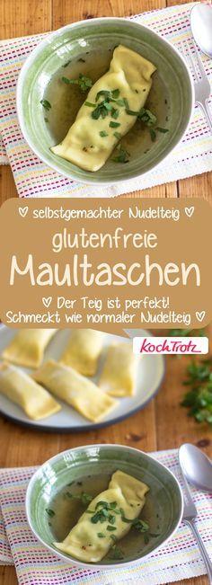 Glutenfreie Maultaschen mit selbstgemachtem Nudelteig - KochTrotz | kreative Rezepte