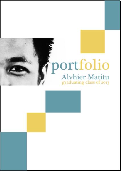 portfolio cover page template free