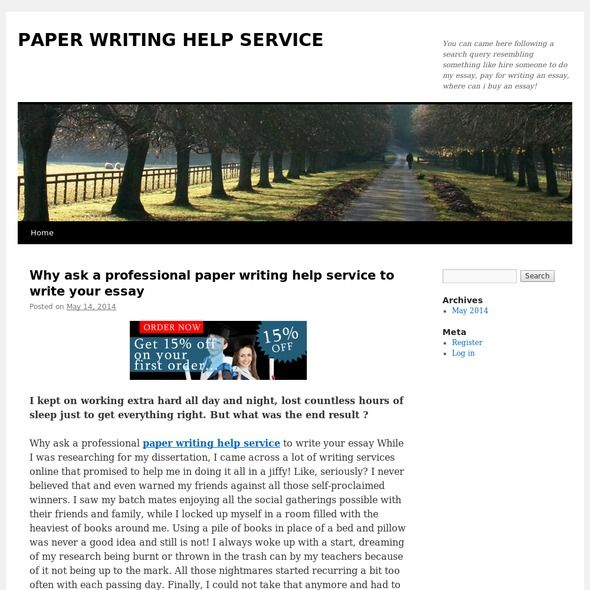 Find people to write papers for you