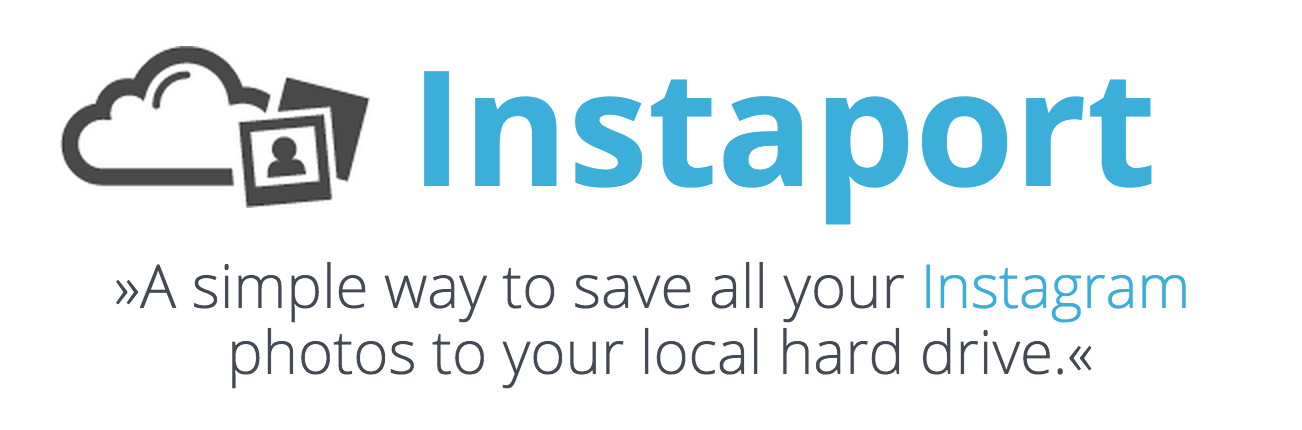 Save instagram feed to hard drive with Instaport
