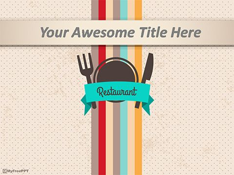 free restaurant powerpoint template powerpoint slides free ppt
