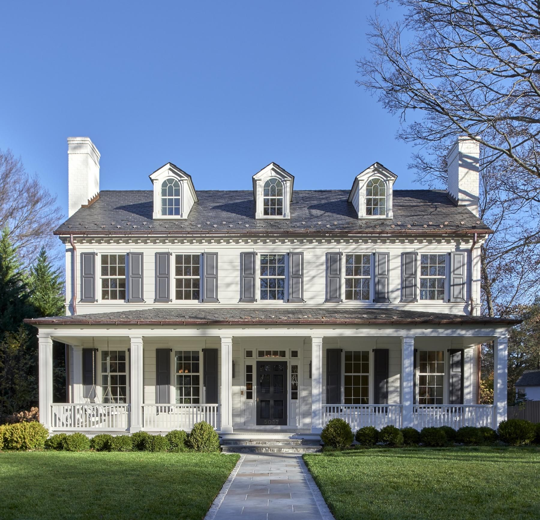 Colonial House Plans: Anne Decker Architects
